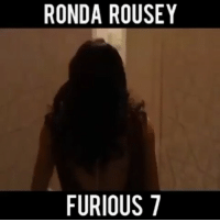 Okay so she's not the best actress, but this might still be some fun to watch..: RONDA ROUSEY  FURIOUS 7 Okay so she's not the best actress, but this might still be some fun to watch..
