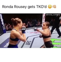 Congratulations to Amanda Nunes for winning ufc 207 in only 48 secs: Ronda Rousey gets TKO'd  @insta comedy  UP Congratulations to Amanda Nunes for winning ufc 207 in only 48 secs