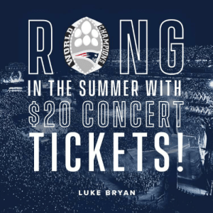 Rong: RONG  Gilee  TADIU M  IN THE SUMMER WITH  $20 COMCERT  TICKETS!  LUKE BRYAN Rong