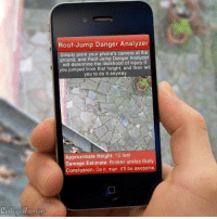 I wish they we had this app when I was growing up: Roof-Jump Danger Analyzer  Simply point your phone's camera at the  ground, and Roof-Jump Danger Analyzer  will determine the likelihood of injury if  you jumped from that height, and then tell  you to do it anyway  pproximate Height: 15 feet  amage Estimate: Broken ankles likely  Conclusion: Do it, man. It'll be awesome I wish they we had this app when I was growing up