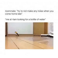 "Facts, Memes, and Roommate: roommate: ""try to not make any noise when you  come home late""  me at 4am looking for a bottle of water* ___________________________________________________ . Damndaniel DeadAss ThatShitHurted B Facts hellnawtothenawnawnaw ohdontdoit OhMyGod WTF ohshit WHODIDTHIS imdone REALLYBITCH NIGGASAINTSHIT NewYorkersBelike nochill NIGGASBELIKE BITCHESBELIKE blackpeoplebelike whitepeoplebelike BiggasBestBuys_ biggas_best_buys_autosales"