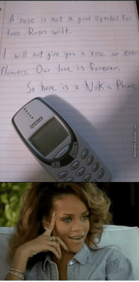 If this isn't true love, I don't know what is.: rose is not a 9 d symbol per  ove Roses wilt  ll not give you a rose or even  flower  Our ove is forever.  e here is  a Nokia phone If this isn't true love, I don't know what is.