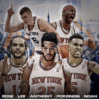New York Knicks, Memes, and Noah: ROSE LEE ANTHONY PORZINGIS NOAH New York Knicks are the Hottest Team in the Eastern Conference so far! 9-3 in their last 12 games.  -The Mecca