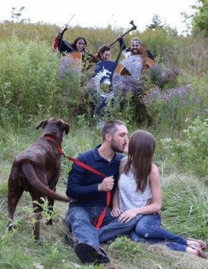 rosehipsandfoxes:  jewishzevran:  anowon:  mediumaevum:  An actual title I just saw: A Windsor photographer was shooting a romantic couple when three Medieval warriors photobombed the set    which dragon age is this from  the first one you can tell by the fact that theres a dog   @mylifeforthelore You're gonna wanna see this: rosehipsandfoxes:  jewishzevran:  anowon:  mediumaevum:  An actual title I just saw: A Windsor photographer was shooting a romantic couple when three Medieval warriors photobombed the set    which dragon age is this from  the first one you can tell by the fact that theres a dog   @mylifeforthelore You're gonna wanna see this