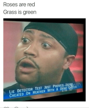 Test, Never, and Been: Roses are red  Grass is green  LIE DETECTOR TEST JUST PROVER  CHEATED ON HEATHER WITH A DRA  AS  EN A truer poet, there hath never been