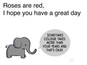 awesomacious:  It's ok to go at your own pace (:: Roses are red,  I hope you have a great day  SOMETIMES  COLLEGE TAKES  MORE THAN  FOUR YEARS AND  THAT'S OKAY.  EMM  ROY awesomacious:  It's ok to go at your own pace (: