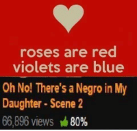dasfdwdfse: roses are red  violets are blue  Oh No! There's a Negro in My  Daughter Scene 2  66,896 views M  80% dasfdwdfse