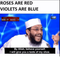 """<p>MEMRI TV Memes have Potential for Sure via /r/MemeEconomy <a href=""""http://ift.tt/2nroVAI"""">http://ift.tt/2nroVAI</a></p>: ROSES ARE RED  VIOLETS ARE BLUE  .REİN-IY  MEMRl-.TY  By Allah, behave yourself.  I will give you a taste of my shoe. <p>MEMRI TV Memes have Potential for Sure via /r/MemeEconomy <a href=""""http://ift.tt/2nroVAI"""">http://ift.tt/2nroVAI</a></p>"""