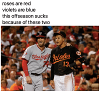 Happy Valentine's Day!: roses are red  violets are blue  this offseason sucks  because of these two  413 Happy Valentine's Day!