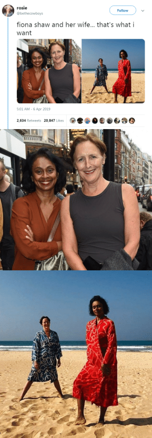 "Harry Potter, Hbo, and Irish: rosie  Follow  @bethecowboys  fiona shaw and her wife... that's what i  want  5:01 AM-6 Apr 2019  2,634 Retweets 20,847 Likes profeminist:    ""fiona shaw and her wife… that's what i want""- @bethecowboys ""Fiona Shaw is an Irish actress and theatre and opera director, known for her role as Petunia Dursley in the Harry Potter film series and her role as Marnie Stonebrook in season four of the HBO series True Blood (2011). She has worked extensively with the Royal Shakespeare Company and the National Theatre, twice winning the Olivier Award for Best Actress.Shaw is openly lesbian and was previously in a relationship with actress Saffron Burrows. She is married to the economist Sonali Deraniyagala."" Source: https://en.wikipedia.org/wiki/Fiona_Shaw"