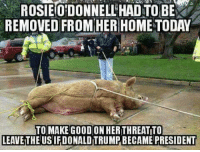 The meme says rosie, but I'm having a difficult time distinguishing... could this be michael moore?  ~Earl  Meme by Kevin :): ROSIEODONNELLHADTOBE  REMOVED FROM HER HOME TODAY  TO MAKE GOOD ON HERITHREATTO  LEAVETHEUSIFDONALDTRUMPBECAME PRESIDENT The meme says rosie, but I'm having a difficult time distinguishing... could this be michael moore?  ~Earl  Meme by Kevin :)