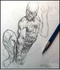 Memes, Spider, and SpiderMan: Rough Sketch  WIP detail  Andy Brase Spider-Man: Rough Sketch Preview WIP prelim detail A peek at something new Early & small detail from this one;) andybrase pencilsketch pencils sketching sketchoftheday sketch comicart fantasyart marvelart spiderman spidey wip conceptartist characterdesign doodle graphitedrawing artoftheday conceptart sketchbook
