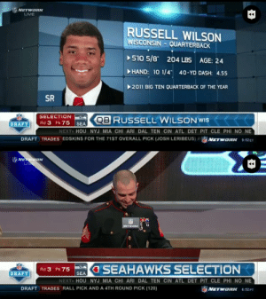 Round 3.  Pick No. 75 overall.   Eight years ago today, the @Seahawks got a steal in @DangeRussWilson. (via @NFLThrowback) https://t.co/q6QfR1JQrN: Round 3.  Pick No. 75 overall.   Eight years ago today, the @Seahawks got a steal in @DangeRussWilson. (via @NFLThrowback) https://t.co/q6QfR1JQrN