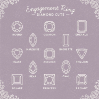 Which one is your favorite?: ROUND  HEART  SQUARE  DIAMOND CUTS  CUSHION  BAGUETTE  MARQUISE  AS SCHER  OVAL  PEAR  PRINCESS  EMERALD  TRILLION  RADIANT Which one is your favorite?