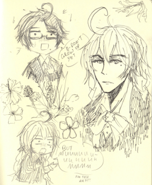 eunnui:  trying out a new pen~! instead of studying for math quiz~! i was thinking, i wonder if aph austria and kugelmugel ever have a little argument about like anything (maybe something art related i dunno differing opinions on some art thing maybe) and they're both annoyed/angry and kugelmugel walks off angrily muttering about whatever. would aph austria ever like come across the thought that he could lose such an unstable existence like kugelmugel's micronation status whenever? that he could be alone and not have someone to talk about art stuff with so passionately eccentrically? like so many have left him, i think aph austria would have some sort of level of fear of loss and loneliness in a way … either way i think aph austria would try to make peace with an annoyed kugelmugel and i dunno, remind him how important he is eccentricities and all? : Row  0  Muunuu  Fon Tel  AR T! eunnui:  trying out a new pen~! instead of studying for math quiz~! i was thinking, i wonder if aph austria and kugelmugel ever have a little argument about like anything (maybe something art related i dunno differing opinions on some art thing maybe) and they're both annoyed/angry and kugelmugel walks off angrily muttering about whatever. would aph austria ever like come across the thought that he could lose such an unstable existence like kugelmugel's micronation status whenever? that he could be alone and not have someone to talk about art stuff with so passionately eccentrically? like so many have left him, i think aph austria would have some sort of level of fear of loss and loneliness in a way … either way i think aph austria would try to make peace with an annoyed kugelmugel and i dunno, remind him how important he is eccentricities and all?