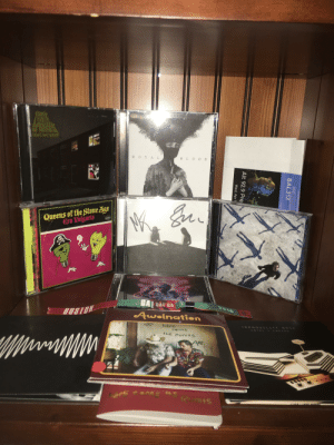 Thought I'd share my cd/concert collection somewhere: ROYAL  B LOOD  Queens of the Stone Age  Era Vulgaris  MONO  MUSE  GAI  SAT GA  2018  BUSTON  Awolnation  hErt  TRANOULLITY BRSE  cent  HDTEL  EASI D  hE runutS  Au  ars  SEC  BAL313  Alt 92.9 Pre  Wed, Apr 1 Thought I'd share my cd/concert collection somewhere