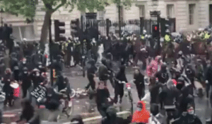"rozunderpressure:  thebibliosphere: destroyerofprivateschools:  pancoleon:   kropotkindersurprise:  kropotkindersurprise: June 6 2020 - A cop dismounts his horse in a creative way after mounted police charged a peaceful Black Lives Matter protest in Downing Street, London. [video]    I shit you not, UK right wing grifters blamed the ""radical left"" for the cop riding into a traffic light    The traffic light is a communist you see    Well, it was red at the time.  Comrade traffic light probably has done way more to keep the community safe as well…: rozunderpressure:  thebibliosphere: destroyerofprivateschools:  pancoleon:   kropotkindersurprise:  kropotkindersurprise: June 6 2020 - A cop dismounts his horse in a creative way after mounted police charged a peaceful Black Lives Matter protest in Downing Street, London. [video]    I shit you not, UK right wing grifters blamed the ""radical left"" for the cop riding into a traffic light    The traffic light is a communist you see    Well, it was red at the time.  Comrade traffic light probably has done way more to keep the community safe as well…"