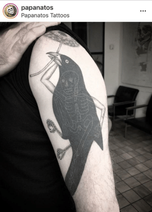 Tattoos, Image, and Arms: Rpapanatos  Papanatos Tattoos Finally a image worthy of this sub. Behold a bird with arms.