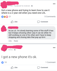 Rs Facebook for Android Got a New Phone and Trying to Learn