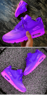 Women's Bling Nike Air Max 90 ID Custom Leather Pink Foil