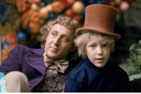 RT @FromTheHistory: Gene Wilder and Peter Ostrum on the set of Willie Wonka The Chocolate Factory 1971