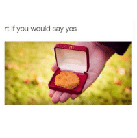 I WANT CHICKEN NUGGETS RIGHT NOW: rt if you would say yes I WANT CHICKEN NUGGETS RIGHT NOW