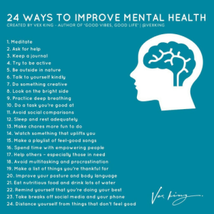RT @learnthngs: 24 WAYS TO IMPROVE MENTAL HEALTH: https://t.co/5tmcwLZqi5: RT @learnthngs: 24 WAYS TO IMPROVE MENTAL HEALTH: https://t.co/5tmcwLZqi5