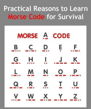 RT @learnthngs: Did You Know❓❓❓ Practical Reasons To Learn Morse Code For Survival https://t.co/dlBagRTGaI: RT @learnthngs: Did You Know❓❓❓ Practical Reasons To Learn Morse Code For Survival https://t.co/dlBagRTGaI