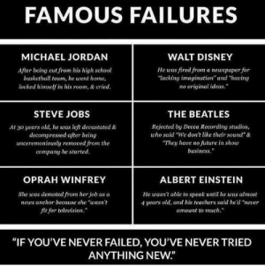 RT @learnthngs: FAMOUS FAILURES 👎☹👎 If you've never failed, you've never tried anything neW https://t.co/q4ivJNdvJ3: RT @learnthngs: FAMOUS FAILURES 👎☹👎 If you've never failed, you've never tried anything neW https://t.co/q4ivJNdvJ3
