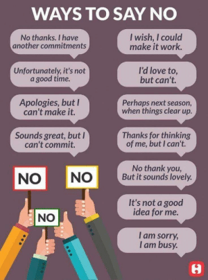 RT @learnthngs: WAYS TO SAY 'NO' https://t.co/2ex51R9r3z: RT @learnthngs: WAYS TO SAY 'NO' https://t.co/2ex51R9r3z
