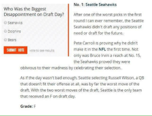 RT @NFL_Stats: Throwback to the #Seahawks draft grade in 2012 😂🥶 https://t.co/DCMlLp6Wwe: RT @NFL_Stats: Throwback to the #Seahawks draft grade in 2012 😂🥶 https://t.co/DCMlLp6Wwe