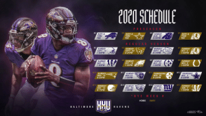 RT @Ravens: Our 2020 schedule❗️❗️  https://t.co/zD8qI1Crvw https://t.co/lj18WywB4z: RT @Ravens: Our 2020 schedule❗️❗️  https://t.co/zD8qI1Crvw https://t.co/lj18WywB4z