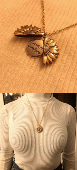 """RT @shannyxfloreas: my bf got me a sunflower necklace that opens up and inside it says """"you are my sunshine""""💛🌞 https://t.co/JqyqyW3fME: RT @shannyxfloreas: my bf got me a sunflower necklace that opens up and inside it says """"you are my sunshine""""💛🌞 https://t.co/JqyqyW3fME"""