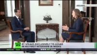 'West is telling Russia that Syrian Army went too far in defeating terrorists' - Assad to RT's Maria Finoshina (FULL INTERVIEW): RT SPEAKS EXCLUSIVELY TO ASSAD  N HIS FIRST INTERVIEW IN WEEKS  WWW.RT.COM 'West is telling Russia that Syrian Army went too far in defeating terrorists' - Assad to RT's Maria Finoshina (FULL INTERVIEW)