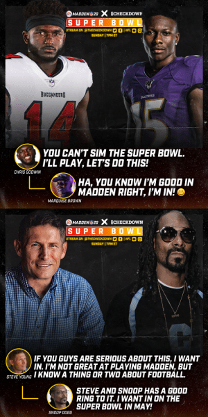 RT @thecheckdown: Our Madden Super Bowl just got a whole lot crazier...👀 @EAMaddenNFL @SnoopDogg https://t.co/r5ZMlksnR4: RT @thecheckdown: Our Madden Super Bowl just got a whole lot crazier...👀 @EAMaddenNFL @SnoopDogg https://t.co/r5ZMlksnR4