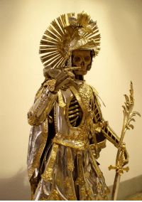 Church, Memes, and Switzerland: RT @TheHiddenWorId: St Pancratius skeleton in armor. Church of St Nikolaus, Switzerland. 16-19th century https://t.co/4Mgm8uWOzY
