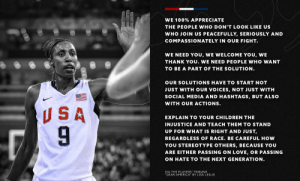 RT @usabasketball: 🇺🇸 We need you. We need you to stand for what is right & just. https://t.co/PXls7QKuBp: RT @usabasketball: 🇺🇸 We need you. We need you to stand for what is right & just. https://t.co/PXls7QKuBp