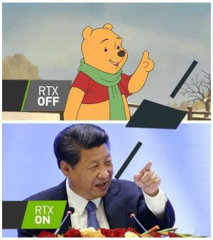 NVIDIA has really upped their graphics cards: RTX  OFF  RTX  ON NVIDIA has really upped their graphics cards