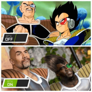 omg-humor:Wow, Such Graphics!: RTX  OFF  RTX  ON omg-humor:Wow, Such Graphics!