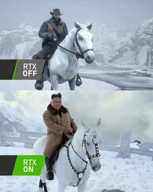 Red Dead Redemption 2 on PC is beautiful: RTX  OFF  RTX  ON Red Dead Redemption 2 on PC is beautiful