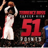This day in history (14) @T_DotFlight31 scored a career-high 51 vs the Clippers: https://t.co/rdJ6cmeIRF https://t.co/6cyEGicd3v:  #RTZ \ raptors.com  TERRENCE ROSS  CAREER HIGH This day in history (14) @T_DotFlight31 scored a career-high 51 vs the Clippers: https://t.co/rdJ6cmeIRF https://t.co/6cyEGicd3v