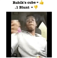 Blunts, Memes, and 🤖: Rubik's cube  1 Blunt Props on the cube but that blunt tho 🤔🤔🤔 @highaf.tv