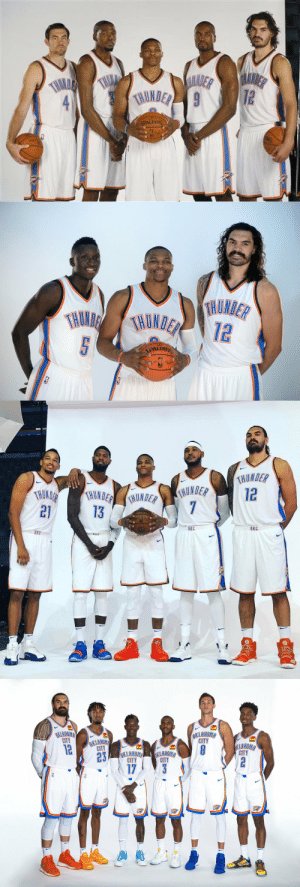Through the Years: Steven Adams' teammates. https://t.co/ZjK0jR6fiu: RUDER  ALNDER  THLLA  72  THMLE  THUNDER 9  SPALDING  NG   TRUMDER  THUNDETHUNDER  TRUNDER  12  5  SPALDING   THUNDER  12  HUNDER  THOKDER  21  THONDERUNDER  7  13  LDIN  ОКС  OKC  OKE  unt   OKLABOMA  CITY  OKLAHOMA  CITY  OKLAHOHA  CITY  12  KLAHOMA  CITY  23  17  OKLAHOMA  CITY  OKLAHOHA  CITY  2  OKS Through the Years: Steven Adams' teammates. https://t.co/ZjK0jR6fiu