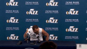 Rudy Gobert touched all the mics at a press conference before being diagnosed with the Coronavirus today https://t.co/PEZzctOwKP: Rudy Gobert touched all the mics at a press conference before being diagnosed with the Coronavirus today https://t.co/PEZzctOwKP