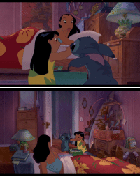 "Apparently, College, and Mulan: ruffboijuliaburnsides:  spankmethorin:  sonjaja:  Casual reminder that Nani was on her way to becoming a Professional Surfer before her parents died and she had to drop everything to look after Lilo.  I apologize, I don't mean to deter from the heart breaking and yet heart warming message, Nani has a poster of Mulan on her wall.  She also apparently ""excelled in math and chemistry"" so she could've been using surfing winnings to save for college.  either way, Nani is smart and talented and she dropped everything to take care of Lilo and that means everything to me."