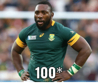 Anaconda, Respect, and Test: RUGBY  2015  100 Respect to one of our all-time favourites for notching up his 100th test this weekend ✊🏾🇿🇦 🇿🇼 thebeast springboks bokke