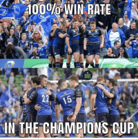 Memes, Run, and Match: RUGBY  MEMES  nslaiam  22 15  IN THE CHAMPIONS CUP Will Leinster match Saracens unbeaten run of 2015-16 by beating Racing 92 in the final? 🏆 rugby leinster racing92 championscup