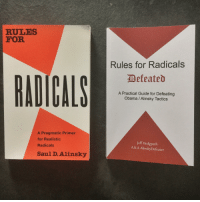 Obama, Bible, and How To: RULES  FOR  Rules for Radicals  Befeated  RADICALS  A Practical Guide for Defeating  Obama / Alinsky Tactics  A Pragmatic Primer  for Realistic  Radicals  Jeff Hedgpetlh  A.K.A AlinskyDefeater  Saul D. Alinsky