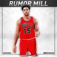 According to Vincent Goodwill of CSN Chicago.com, the Chicago Bulls are interested in trading for Philadelphia 76ers center Jahlil Okafor.  #VNdesign: RUMOR MILL  15  VN DESIGN  fOYraVNDSGN According to Vincent Goodwill of CSN Chicago.com, the Chicago Bulls are interested in trading for Philadelphia 76ers center Jahlil Okafor.  #VNdesign