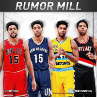 Jahlil Okafor was informed that the Philadelphia 76ers have had trade talks with the Chicago Bulls, New Orleans Pelicans, Denver Nuggets & Portland Trail Blazers, according to HoopsHype's Alex Kennedy.  #VNdesign: RUMOR MILL  22  15 15  luGGets  VN DESIGN  foYraVNDSGN Jahlil Okafor was informed that the Philadelphia 76ers have had trade talks with the Chicago Bulls, New Orleans Pelicans, Denver Nuggets & Portland Trail Blazers, according to HoopsHype's Alex Kennedy.  #VNdesign